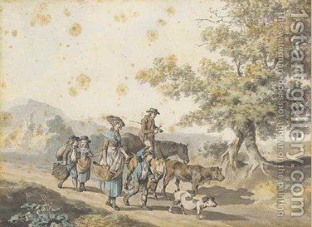 Going to market by (after) Francis Wheatley - Reproduction Oil Painting