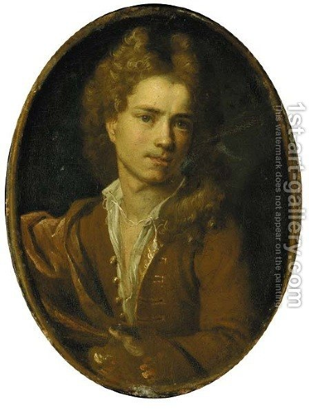 Portrait of the artist by (after) Francois Lemoine (see Lemoyne) - Reproduction Oil Painting