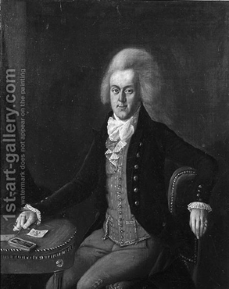 Portrait of a nobleman by (after) Friedrich Ludwig Hauck - Reproduction Oil Painting