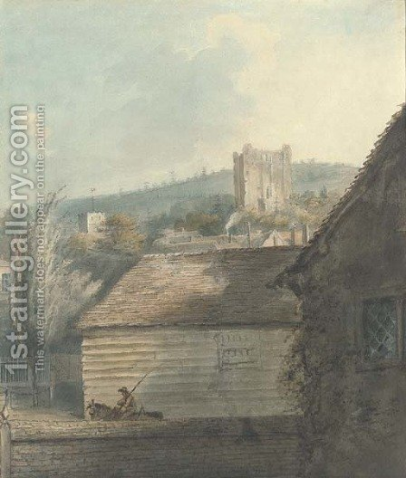Guildford Castle, Surrey by (after) George Sidney Shephard - Reproduction Oil Painting