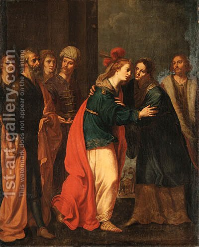 The Visitation by (after) Giacinto Gimignani - Reproduction Oil Painting