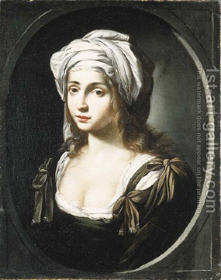 A young woman by (after) Ginevra Cantofoli - Reproduction Oil Painting