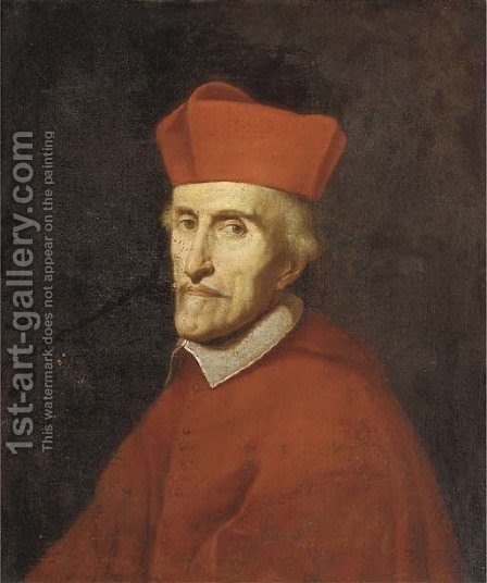 Portrait of a Cardinal by (after) Giovanni Battista (Baciccio) Gaulli - Reproduction Oil Painting