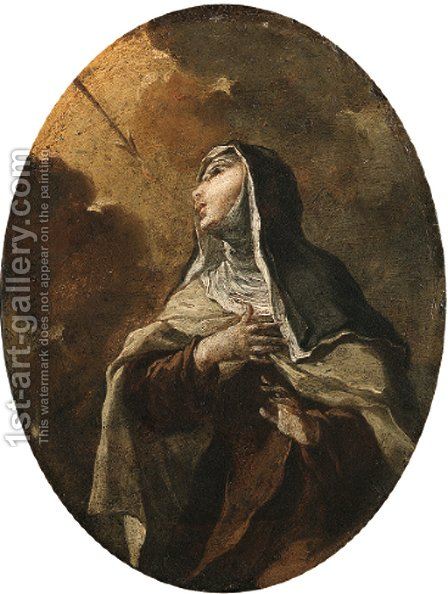 Saint Teresa of Avila by (after) Giovanni Battista Rossi - Reproduction Oil Painting