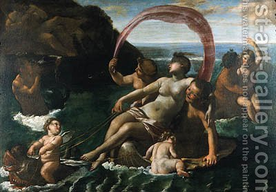 Galatea and Polyphemus by (after) Giovanni Lanfranco - Reproduction Oil Painting