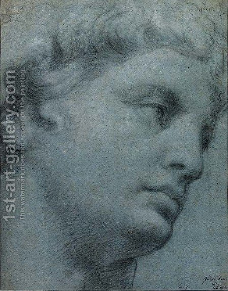 A study of a head after the antique by (after) Guido Reni - Reproduction Oil Painting