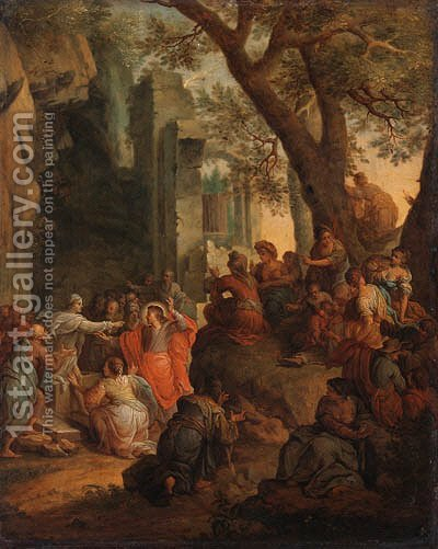 Christ healing the Sick by (after) Henri Cantelbeeck - Reproduction Oil Painting