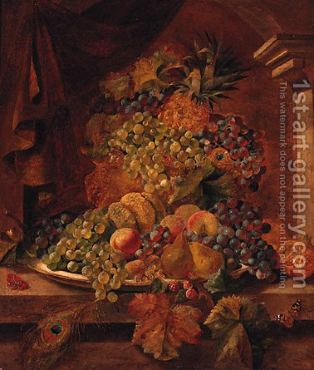 Grapes by (after) Henry A. Major - Reproduction Oil Painting