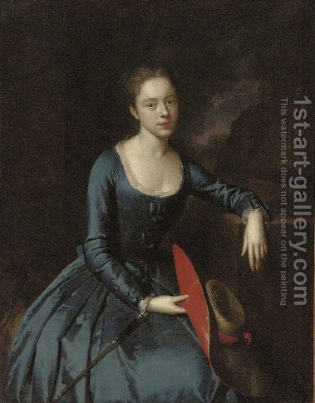 Portrait of a lady by (after) Heroman Van Der Mijn - Reproduction Oil Painting