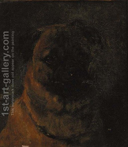 Mumbo Jumbo, a pug by (after) Heywood Hardy - Reproduction Oil Painting