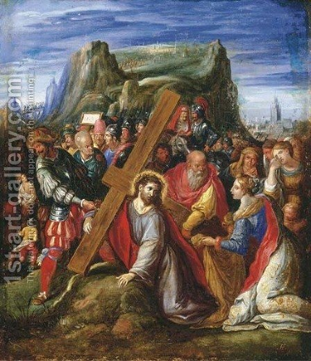 Christ on the Way to Calvary by (after) Hieronymus II Francken - Reproduction Oil Painting