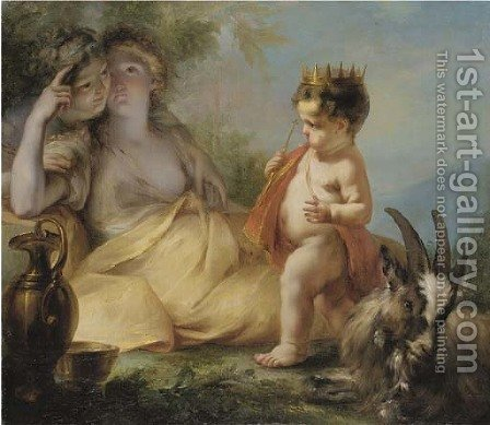 The Infancy of Jupiter by (after) Ignazio Stella (see Stern Ignaz) - Reproduction Oil Painting
