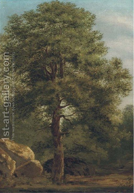 Forest scene by (after) Ivan Shishkin - Reproduction Oil Painting