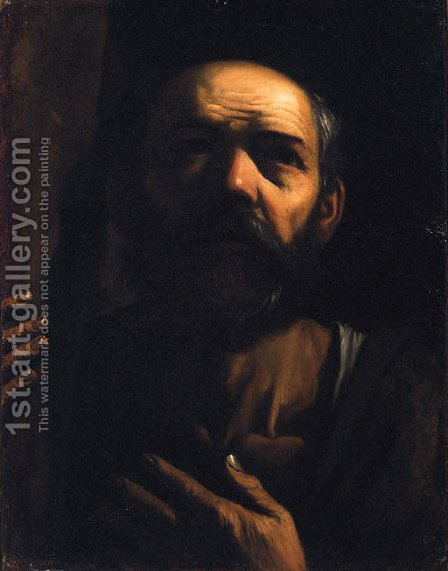 Saint Peter by (after) Jacob Cornelisz Van Oostsanen - Reproduction Oil Painting