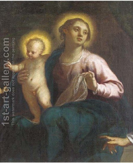 The Madonna and Child by (after) Jacopo D'Antonio Negretti (see Palma Giovane) - Reproduction Oil Painting