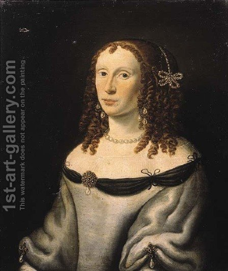 Portrait of Catherina Elisabeth van Soeteren by (after) Jan Van Rossum - Reproduction Oil Painting