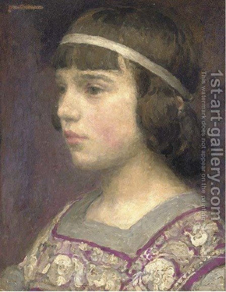 Portrait of a girl by (after) Jean-Michel Moreau - Reproduction Oil Painting