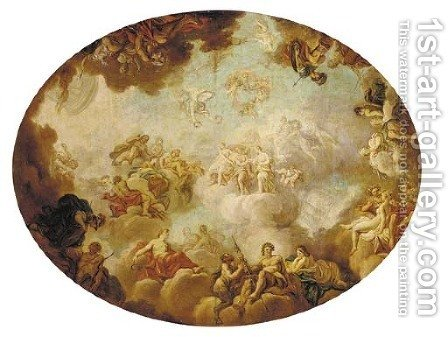 An Assembly of the Gods by (after) Jean-Simon Berthelemy - Reproduction Oil Painting