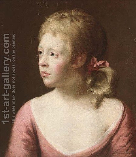 Portrait of a girl by (after) John Astley - Reproduction Oil Painting