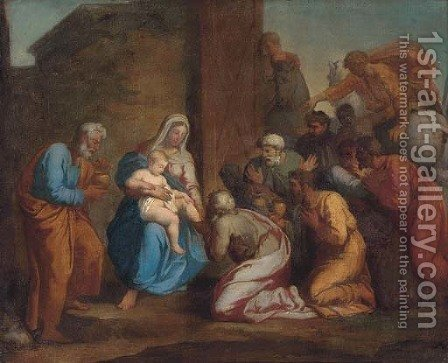 The Adoration of the Magi by (after) John Opie - Reproduction Oil Painting