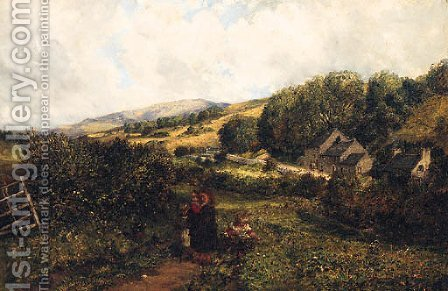 The Blackberry Pickers by (after) John Wright Oakes - Reproduction Oil Painting