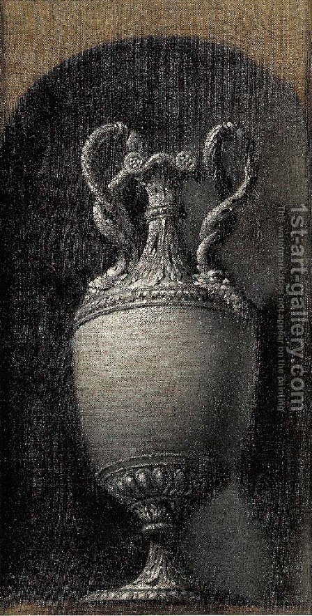 Study of a classical urn in a stone niche by (after) Josepf Wright Of Derby - Reproduction Oil Painting