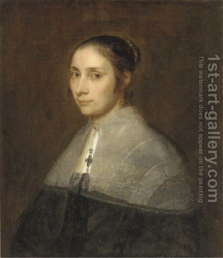 Portrait of a lady by (after) Jurgen Ovens - Reproduction Oil Painting