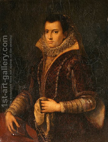 Portrait of a Lady by (after) Lavinia Fontana - Reproduction Oil Painting
