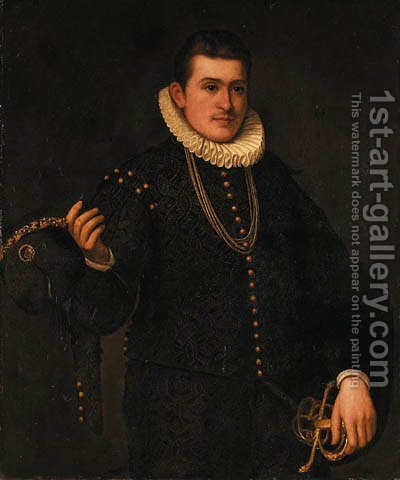 Portrait of a young gentleman by (after) Leandro Bassano - Reproduction Oil Painting