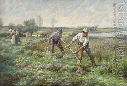 Threshing by (after) Lionel Percy Smyth - Reproduction Oil Painting