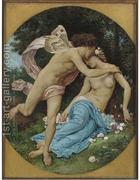 Flora and Zepherus by (after) Charles-Gabriel Gleyre - Reproduction Oil Painting