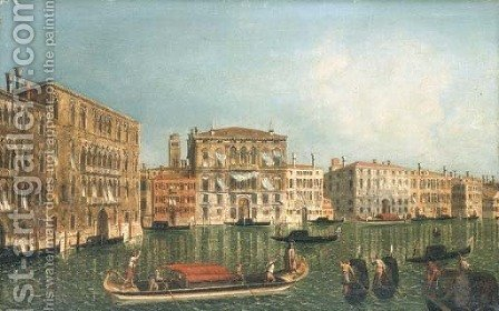 The Grand Canal, Venice, with Palazzo Foscari and Palazzo Balbi by (after) Michele Marieschi - Reproduction Oil Painting