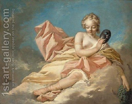The Muse Melpomene by (after) Nicolas Rene Jollain - Reproduction Oil Painting