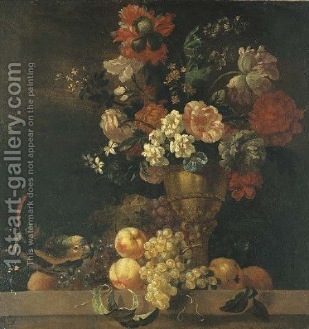 Carnations by (after) Pierre Nicolas Huilliot - Reproduction Oil Painting