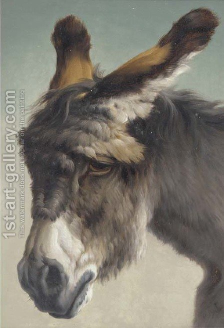 The forlorn donkey by (after) Rosa Bonheur - Reproduction Oil Painting
