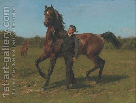 The racehorse by (after) Rosa Bonheur - Reproduction Oil Painting