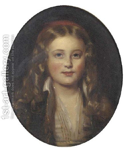 Portrait of Kalitza Janet Erskine Christian Hay by (after) Sir John Watson Gordon - Reproduction Oil Painting