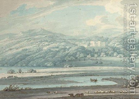 Muncaster Castle, Ravenglass, Cumbria by (after) Thomas Sunderland - Reproduction Oil Painting