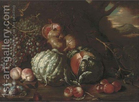 Pomegranates by (after) Tommaso Realfonso - Reproduction Oil Painting