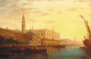 Reproduction oil paintings - Charles Clement Calderon - Il Bacino di San Marco, Venezia