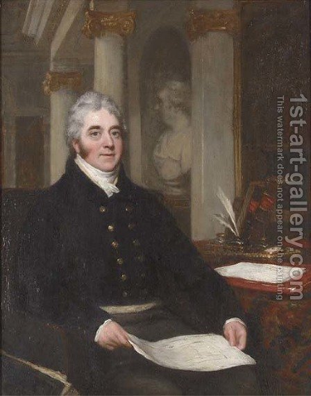 Portrait of a gentleman by (after)  John Partridge - Reproduction Oil Painting