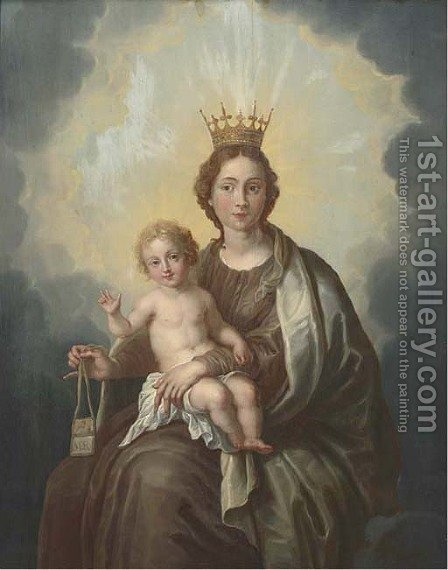 The Virgin and Child by (after) Abraham Jansz. Van Diepenbeeck - Reproduction Oil Painting