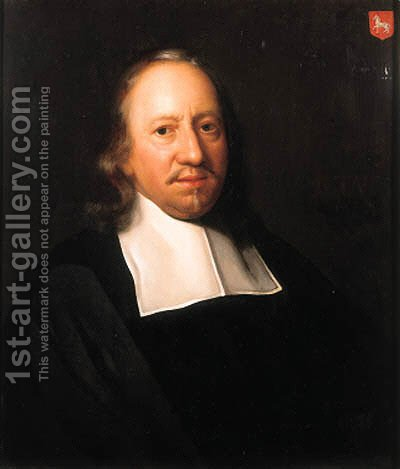 Portrait of Willem Nicolaesz. van Assendelft (1606-1691) by (after) Adriaen De Backer - Reproduction Oil Painting