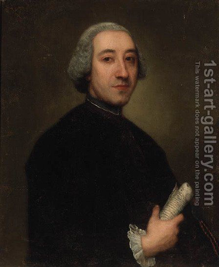 Portrait of a Gentleman by (after) Alessandro Longhi - Reproduction Oil Painting