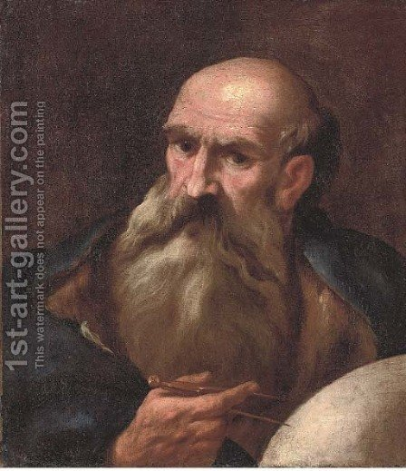 A philosopher by (after) Andrea Sacchi - Reproduction Oil Painting