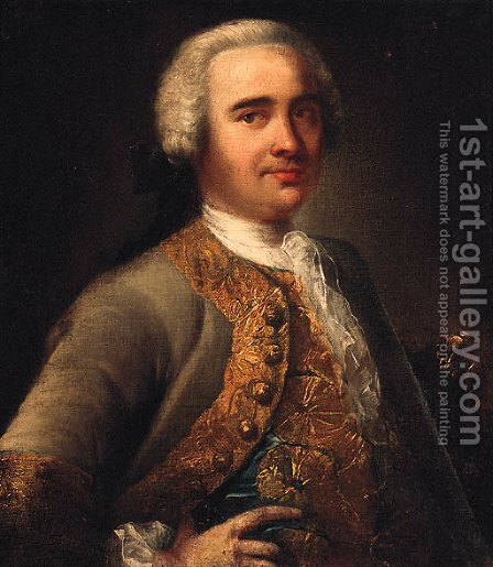 Portrait of a Gentleman by (after) Andrea Soldi - Reproduction Oil Painting