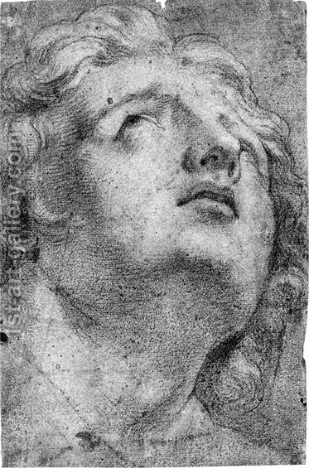 The head of Alexander the Great by (after) Annibale Carracci - Reproduction Oil Painting
