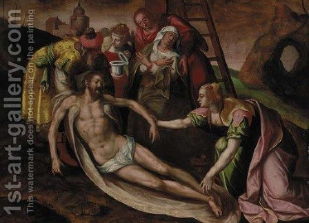 The Deposition by (after) Anthonie Van Blocklandt - Reproduction Oil Painting