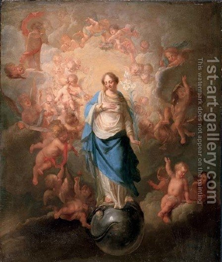 The Immaculate Conception by (after) Anton Raphael Mengs Bohemia - Reproduction Oil Painting