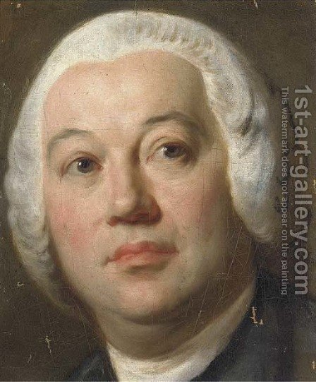 Portrait of a gentleman, small bust-length by (after) Mengs, Anton Raphael - Reproduction Oil Painting